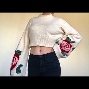 Rose Bell sleeve Crop-Top! NEW